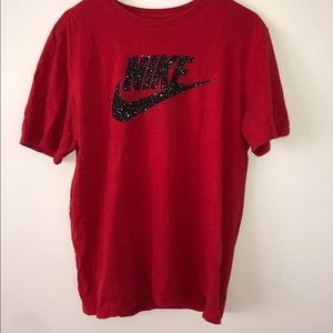 Red Nike Tee Size Large